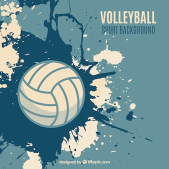 Volleybal splatter achtergrond