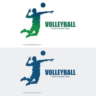 Volleybal sport logo pictogram vector