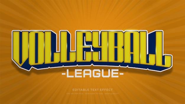Volleybal typografie bewerkbaar teksteffect