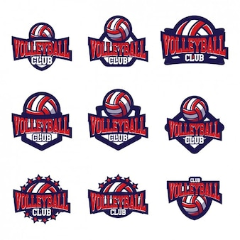 Volleyball logo templates ontwerp