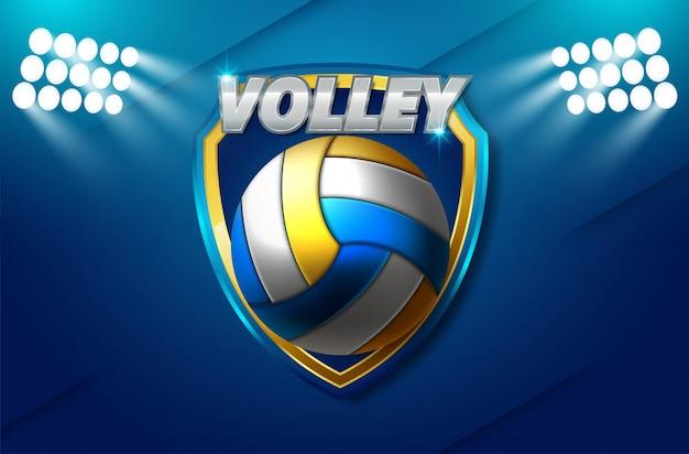 Volleybaltoernooi poster sjabloonontwerp