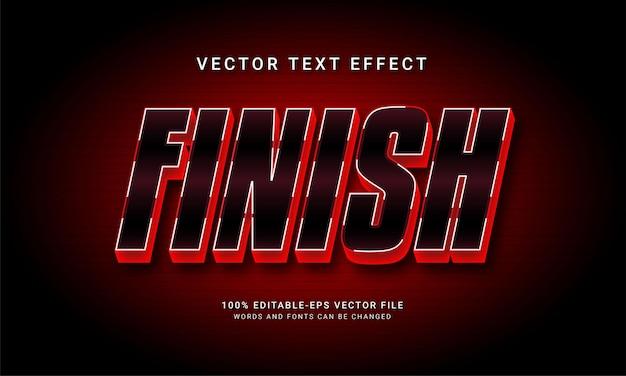 Voltooi het bewerkbare teksteffect met rode kleur