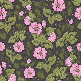 Volumetrisch bloem naadloos patroonelement