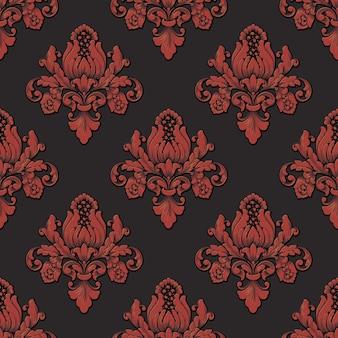 Volumetrisch damast naadloos patroon