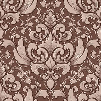 Volumetrisch damast naadloos patroonelement