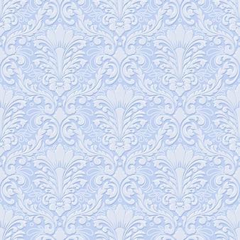 Volumetrische damast naadloze patroon achtergrond