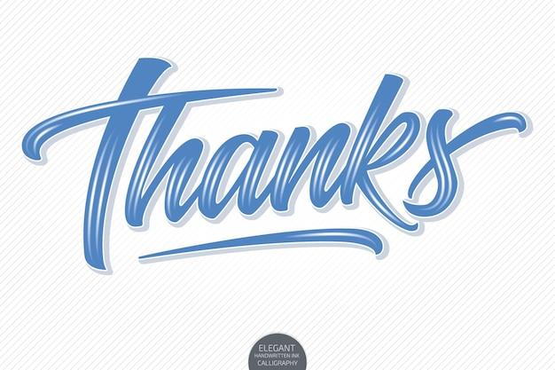 Volumetrische letters - bedankt