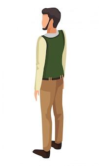 Volwassen man terug avatar