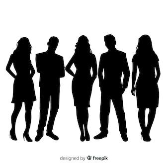 Volwassen mensen silhouetten achtergrond