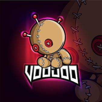 Voodoo mascotte esport logo ontwerp