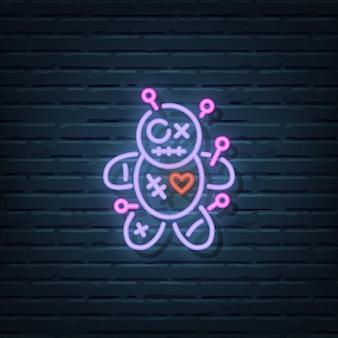 Voodoo-pop neonreclame vectorelementen