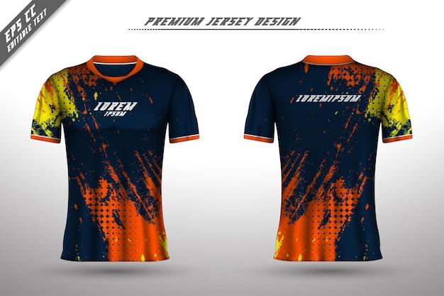 Voor-achter t-shirtontwerp sportontwerp voor racefietsen gaming jersey vector