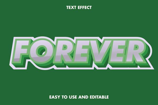 Voor altijd teksteffect. gemakkelijk te gebruiken en bewerkbaar.