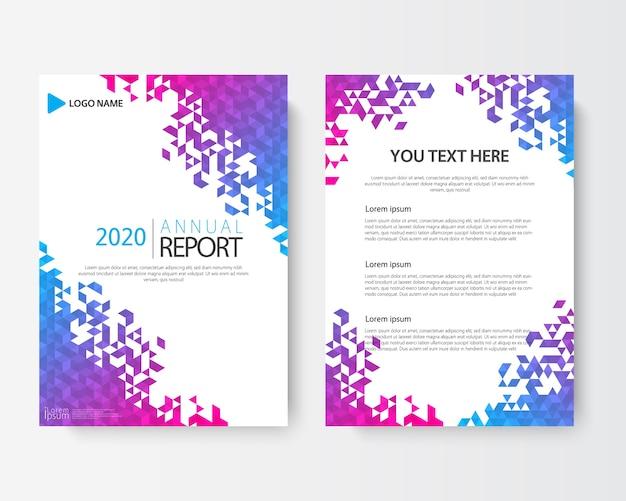 Voor en achter abstracte dekking moderne flyers brochure