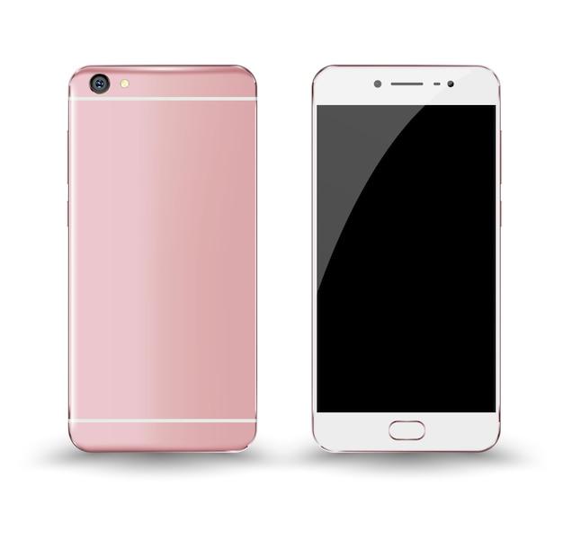 Voor en achter smartphone-mockup