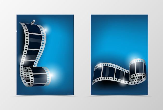 Voor- en achterkant dynamisch bioscoopsjabloonontwerp
