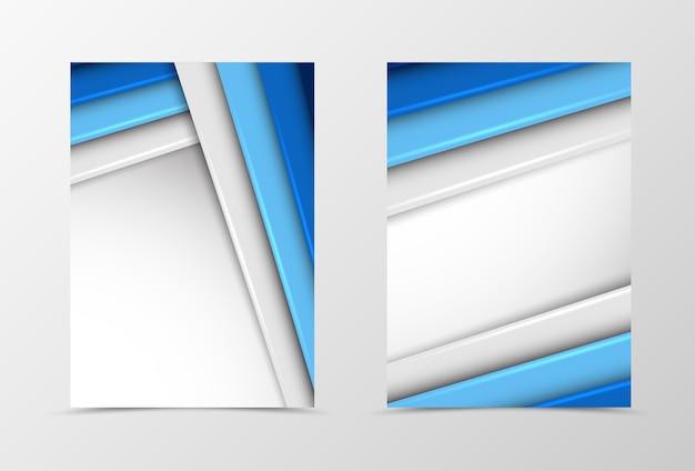 Voor- en achterkant materiaal flyer sjabloonontwerp