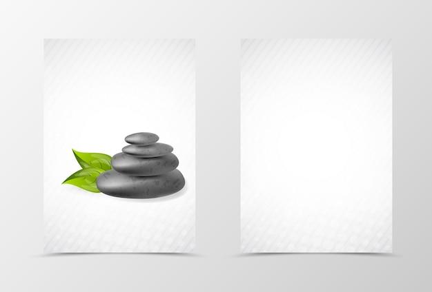 Voor- en achterkant spa flyer sjabloonontwerp