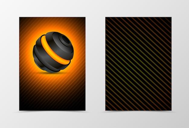 Voor- en achterkant technologisch flyer sjabloonontwerp