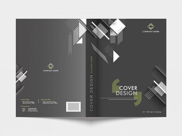 Voor- en achterkant van een zakelijke brochure.