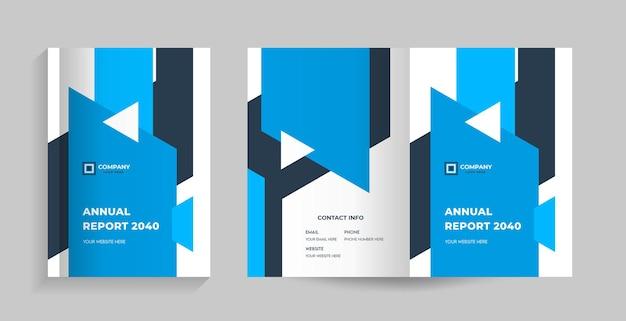 Voor- en achteromslag voor brochure, bedrijfsprofiel, voorstel, jaarverslagmagazine