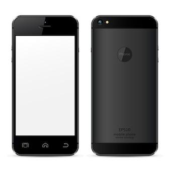 Vooraanzicht en achterkant van mobiele telefoon