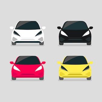 Vooraanzicht van de moderne elektrische auto.