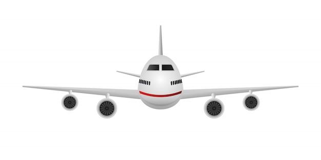 Vooraanzicht van een vliegtuig