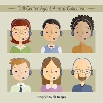 Voorbeeld van callcenteravatars