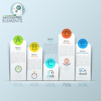 Voorbeeld van zakelijke platte infographic grafiek.