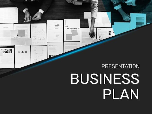 Voorblad van presentatiesjabloon voor businessplan