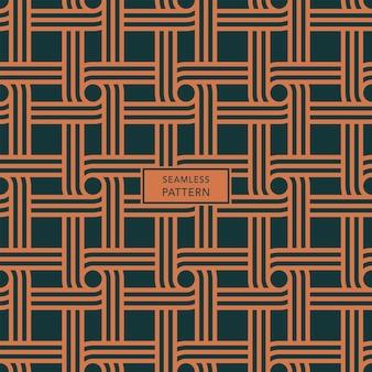Voorbladsjabloon met groen en bruin geometrisch patroon. naadloze achtergrond.