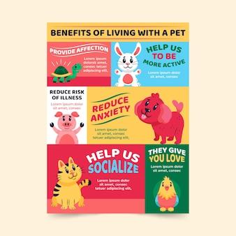 Voordelen van leven met een huisdier infographic