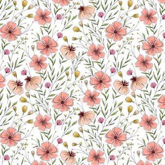 Voorjaar eerste bloemenpatroon