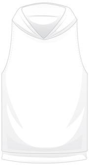 Voorkant van basic witte korte hoodie jas geïsoleerd