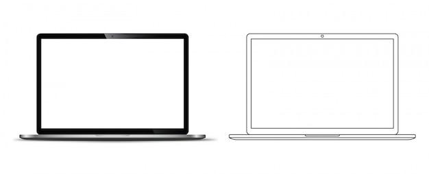 Voorkant van een notebook-laptop