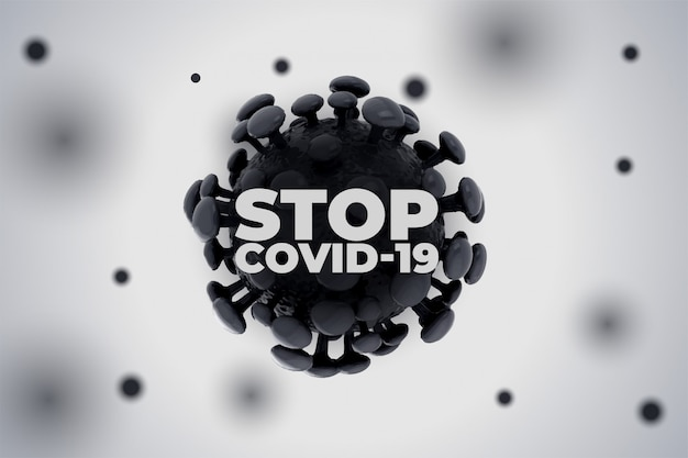 Voorkom dat het nieuwe coronavirus covid19 achtergrond verspreidt