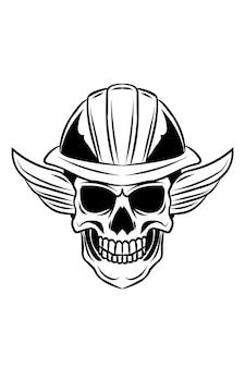 Voorman schedel vectorillustratie