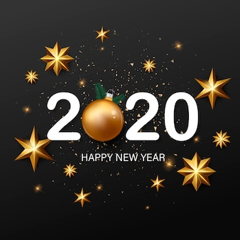 Voorraad vector gelukkig nieuw jaar en vrolijke kerstmisachtergrond.