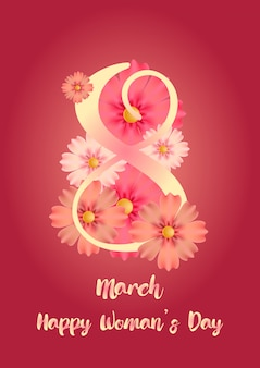 Voorraad vector internationale dag van de vrouw sjabloon