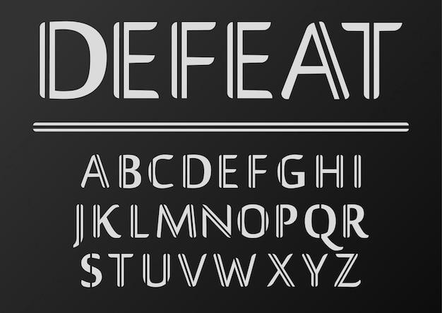 Voorraad vector lettertype ingesteld retro lijn, lettertype sjabloon.