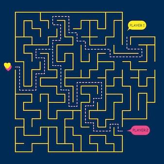 Voorraad vector ronde labyrint doolhof,