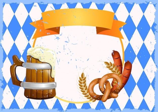 Voorraad vector sjabloon van bierfestival