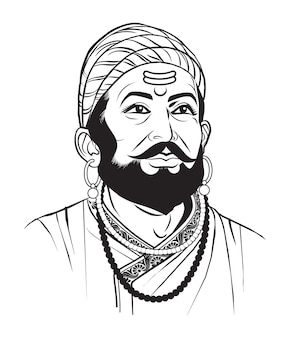 Voorraad vectorillustratie van chatrapati shivaji maharaj maratha clan uit maharashtra india
