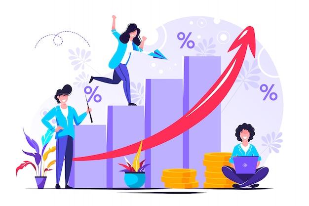 Voorspelling van geldgroei en voortgangsrapport
