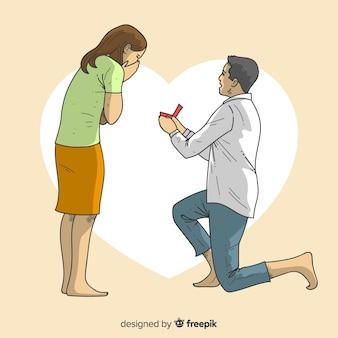 Voorstel en liefde concept