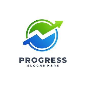 Vooruitgang gradiënt logo vector