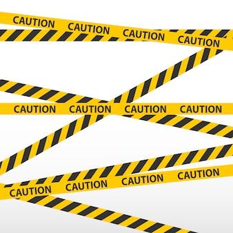 Voorzichtigheidsband, politielijn en gevaarsbanden