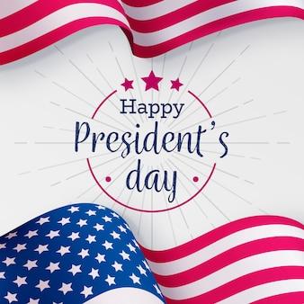 Voorzittersdag met realistische vlag