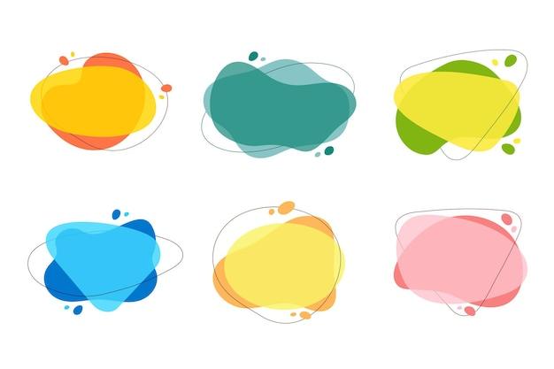 Vorm prijs voor tekst in modern design banner te koop kleur tekstballon voor promotie